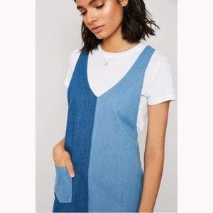 H&M Divided | Denim 2 Toned Jumper Dress